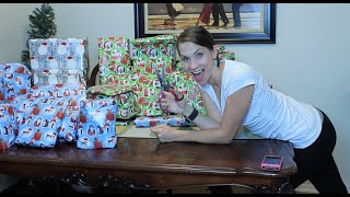 Watch me WRAP ALL OF MY GIFTS quickly!