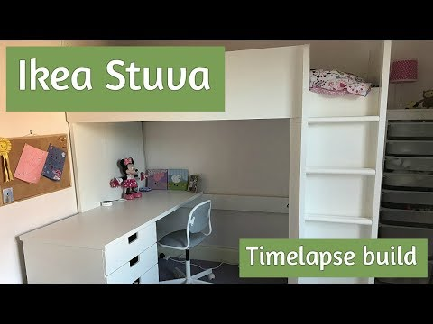 Ikea Stuva assembly - how to build the loft bed, in time lapse!