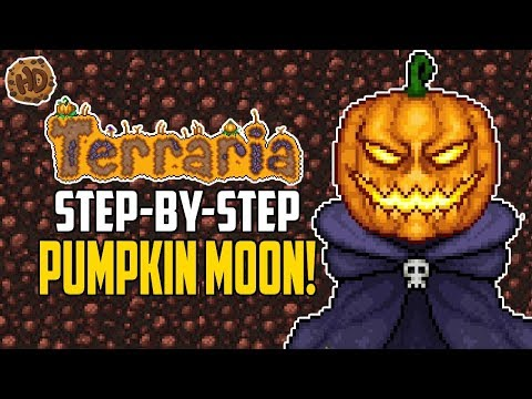 Terraria Pumpkin Moon Step By Step AFK Farm | Terraria How To | HappyDays