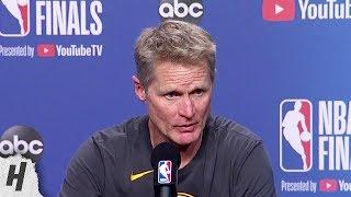 Steve Kerr Postgame Interview - Game 5   Warriors vs Raptors   2019 NBA Finals