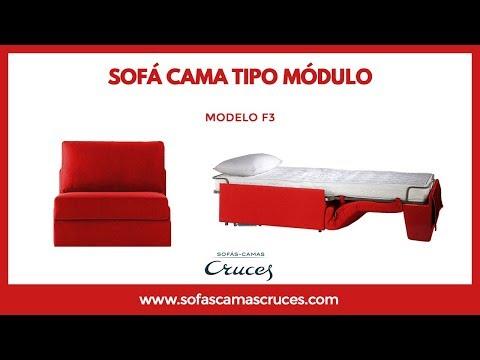 Sillón cama tipo módulo que ocupa poco espacio