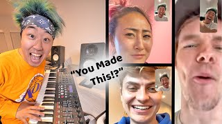 They REACT To My Song (24 Hour Challenge)