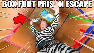 24 HOUR BOX FORT PRISON ESCAPE ROOM!! 📦🚔 Grappling Hook Escape, Secret Room & THE ESCAPE - Video Youtube