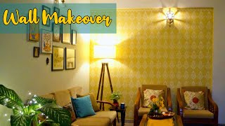 Living Room Wall Makeover | Wall Stenciling