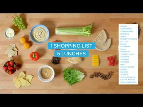 Video 1 Shopping List, 5 Lunches, 1 Hour
