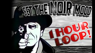 Detective Noir Music - Rainy Smoky Jazz (1 hour Loop)