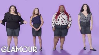 Women Sizes 0 to 26 Try On the Same Mini Skirt | Glamour