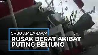 Video SPBU di Ambarawa Rusak Parah Terdampak Angin Puting Beliung, Tak Ada Korban Jiwa