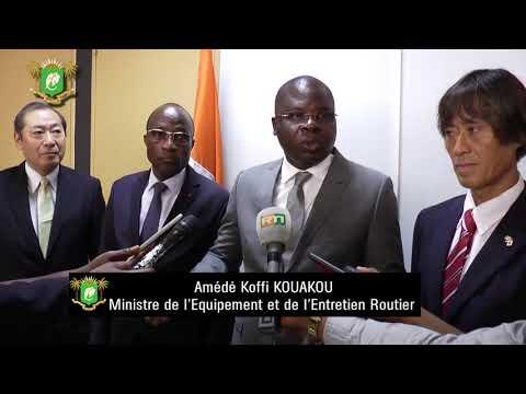 Le Ministre de l'Equipement et de l'Entretien Routier M. Amédé Koffi Kouakou