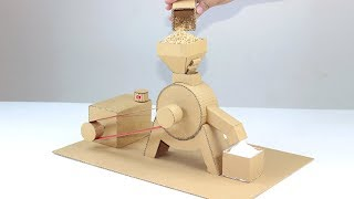 How To Make Mini Flour Mill Form Cardboard at Home! DIY Flour Machine