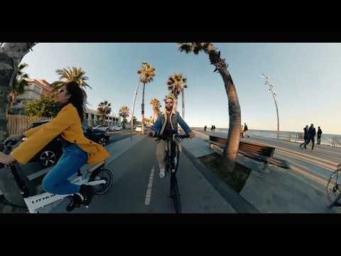 Bicicleta eléctrica plegable Negra Littium by Kaos Ibiza Dogma