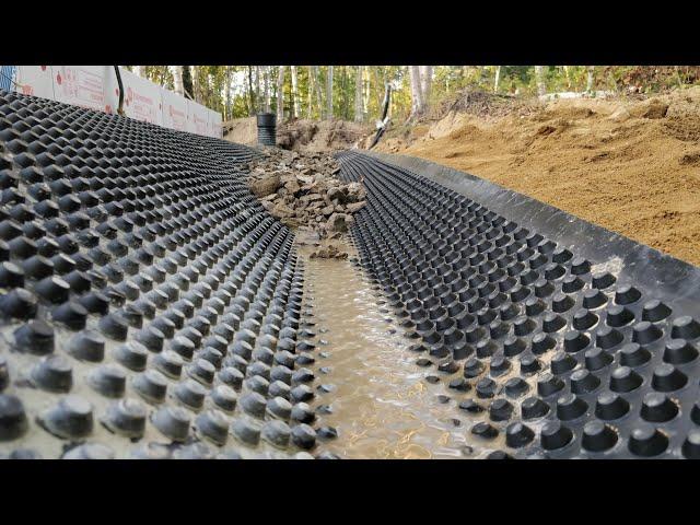 Герметичная отмостка дома без бетона за сущие копейки и своими руками. Planter Плантер Технониколь