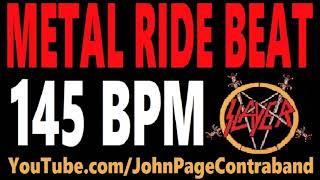 Metal Ride Beat 145 bpm Slayer Style Drums Only Track Loop