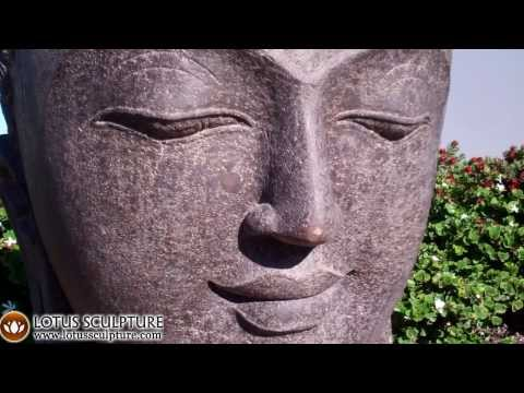 SOLD Stone Smiling Buddha Bust 40