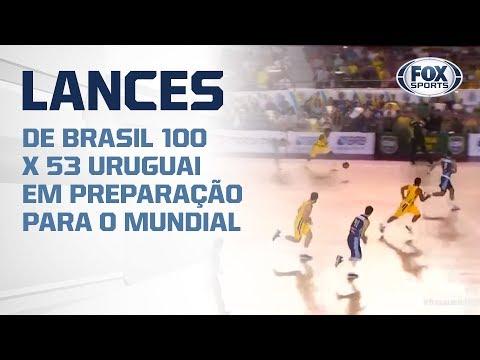 DEU BRASIL! VEJA LANCES DE BRASIL 100 X 53 URUGUAI EM PREPARAÇÃO PARA O MUNDIAL DE BASQUETE