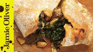 Easy Mushroom & Spinach Pizza Calzone Recipe | Jamie Oliver