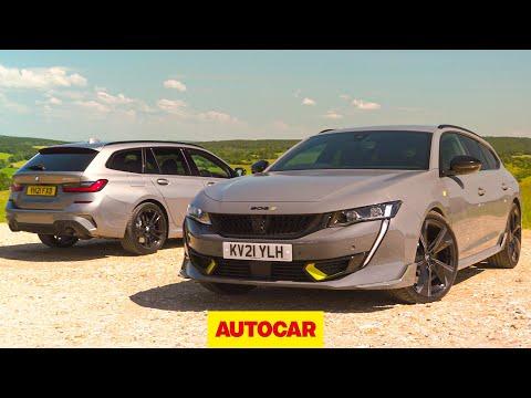 Fast plug-in estate shootout | 508 Peugeot Sport Engineered v BMW 330e | Autocar