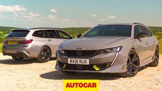 [Autocar] Fast plug-in estate shootout | 508 Peugeot Sport Engineered v BMW 330e