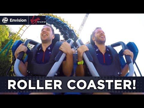 Formula E Drivers Ride A Roller Coaster! (Fantasilandia - Boomerang)