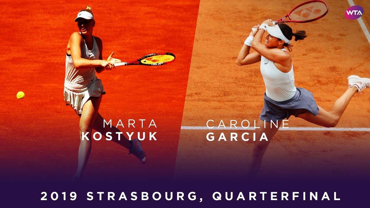 Обзор матча Марта Костюк - Каролин Гарсия в Страсбурге (ВИДЕО)