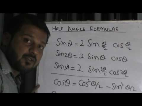 Half angle formulae