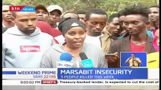 A section of residents living in Nairobi held demonstration over Marsabit insecurity
