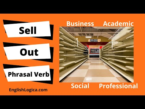 Sell Out Phrasal Verb