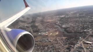 Boeing 737-700 landing in Philadelphia on Southwest Airlines