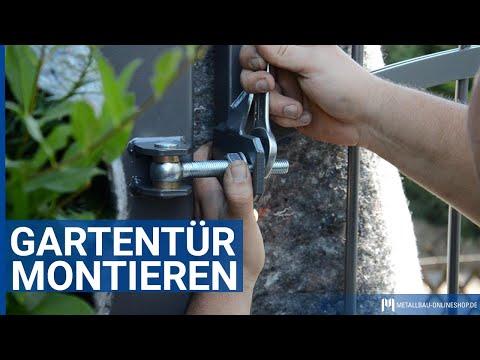 Gartentür montieren | metallbau-onlineshop.de