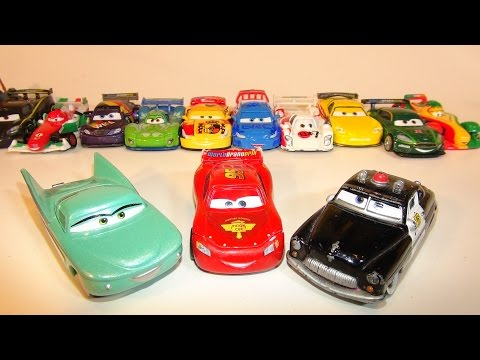 PIXAR CARS SHERIFF AND FLO COLLECTION FROM THE DISNEY CARS CHARACTER ENCYCLOPEDIA PART 5
