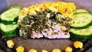 Запеканка с курицей и шпинатом в пароварке