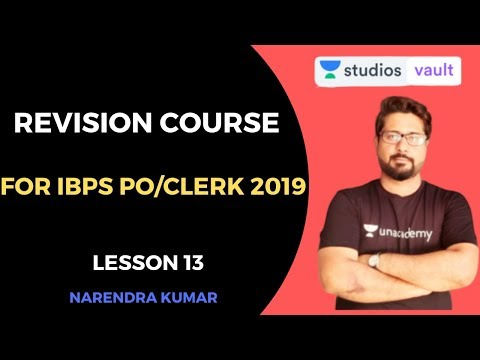 L13 : Revision Course IBPS PO/CLERK 2019 | Bank Exam | Narendra Kumar
