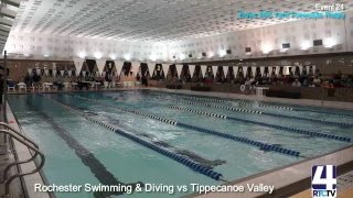 Rochester coed Varsity Swimming vs Tippecanoe Valley