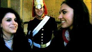 Making A Royal Guard Smile!