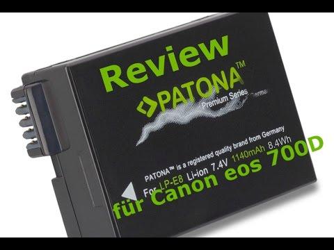 Review Patona LPE8 Akku  für die Canon Eos 700D