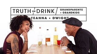 Grandparents & Grandkids Play Truth or Drink (Teanna & Dwight) | Truth or Drink | Cut