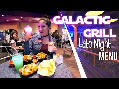 The Galactic Grill's New Late Night Menu at Disneyland!
