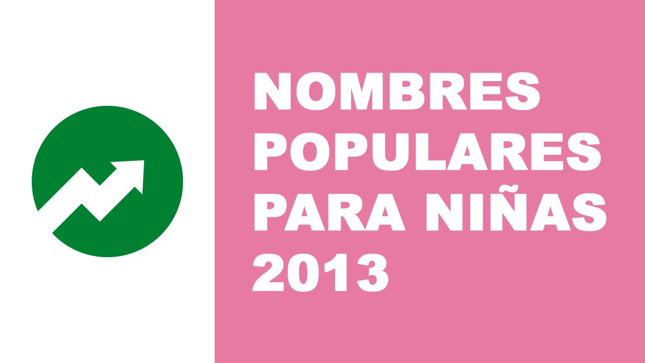 Nombres populares para niñas (2013)