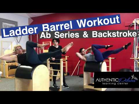 Pilates Ab Series on Ladder Barrel