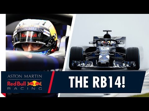 The RB14 takes to the track!   Special Edition livery launches at Silverstone Filming Day