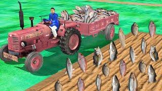 मछली पालन ट्रैक्टर Fish Farming Tractor Funny Comedy Stories Hindi Kahani हिंदी कहानिय Comedy Video
