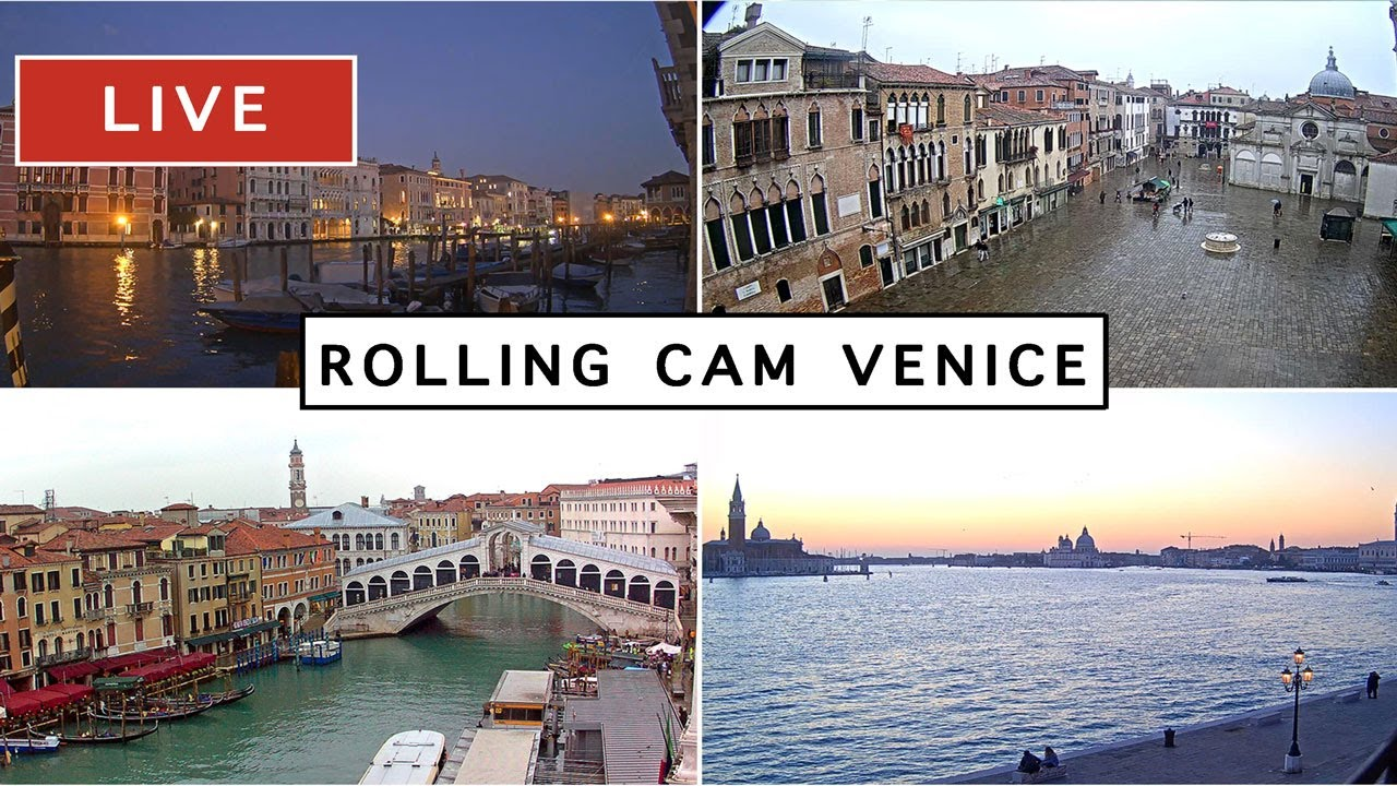 イタリア【水の都ヴェネツィア】光り輝く水辺の世界遺産を Rolling Cam Venice