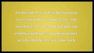 Remittance man Meaning