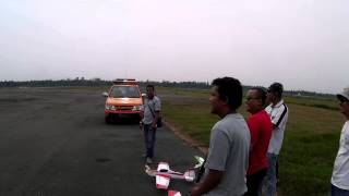 preview picture of video 'Mobius HD Action Cam - waiting for take off he2 @ Supadio Pontianak'