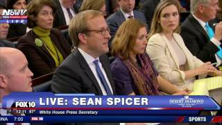 SEAN SPICER Corrects White House Reporter Over President Trump Inauguration Attendance