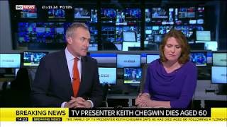 Sky News: Keith Chegwin has died - 11th December 2017