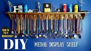 Simple DIY Medal/Sport Display Shelf