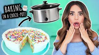 I Tried Baking A CAKE In A Crock Pot! thumbnail