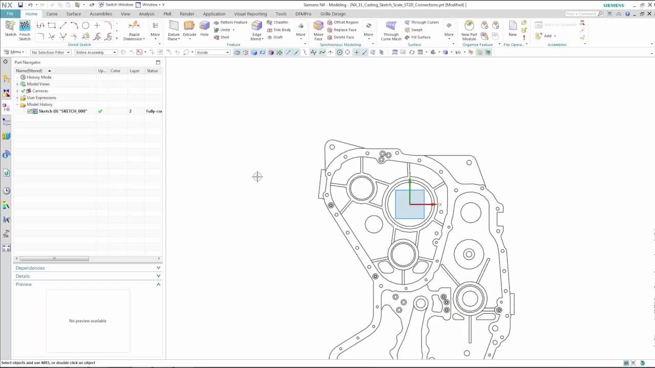 Vorschaubild: NX 11: Skizzenerstellung