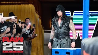 The Undertaker returns: Raw 25, Jan. 22, 2018